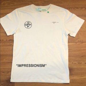 off white impressionism white t shirt